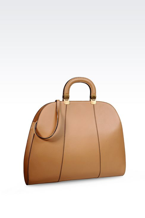 HANDBAG IN SMOOTH CALFSKIN WITH INNER POUCH: Top handles Women by Armani - 2