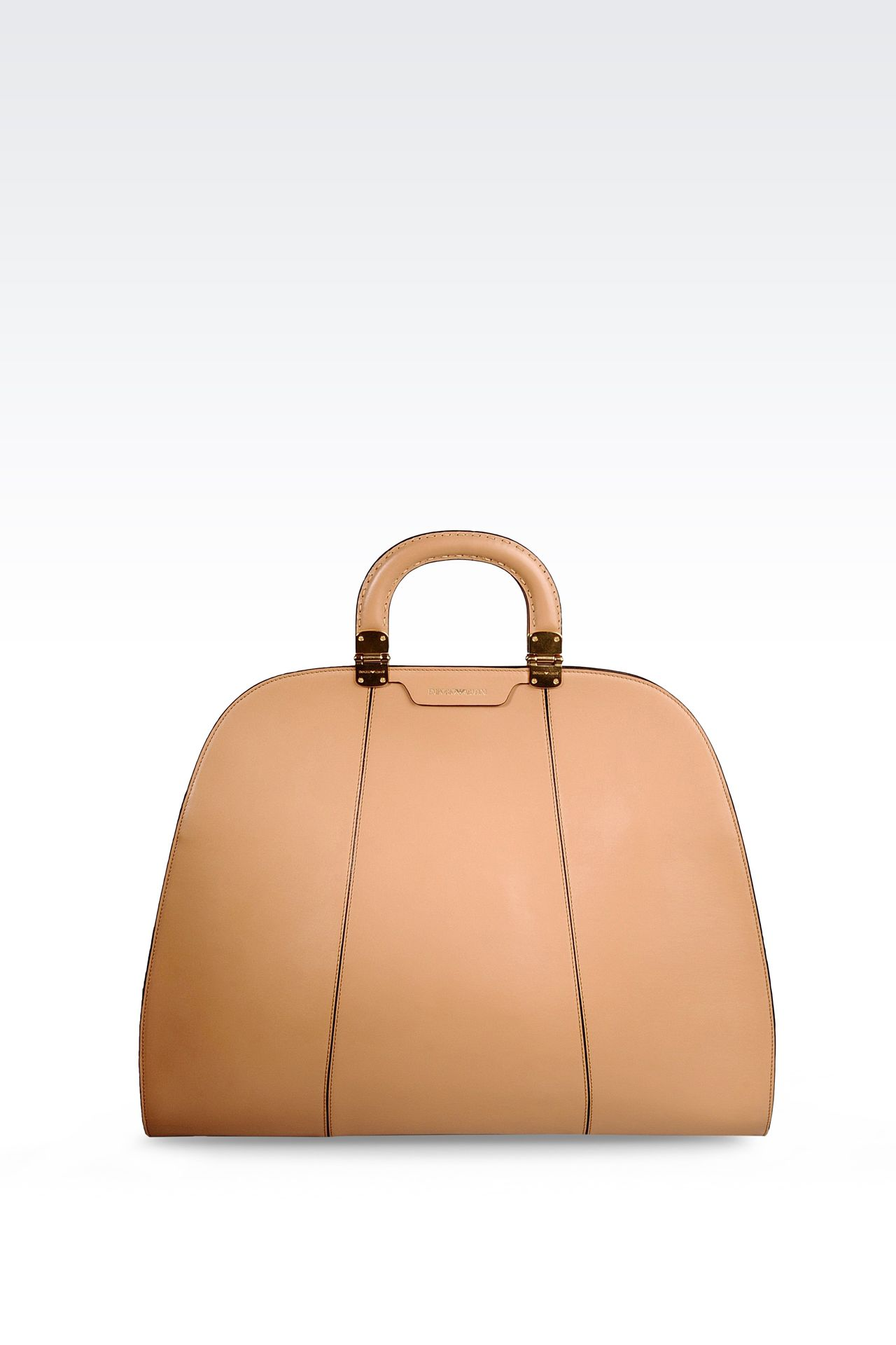 HANDBAG IN SMOOTH CALFSKIN WITH INNER POUCH: Top handles Women by Armani - 0