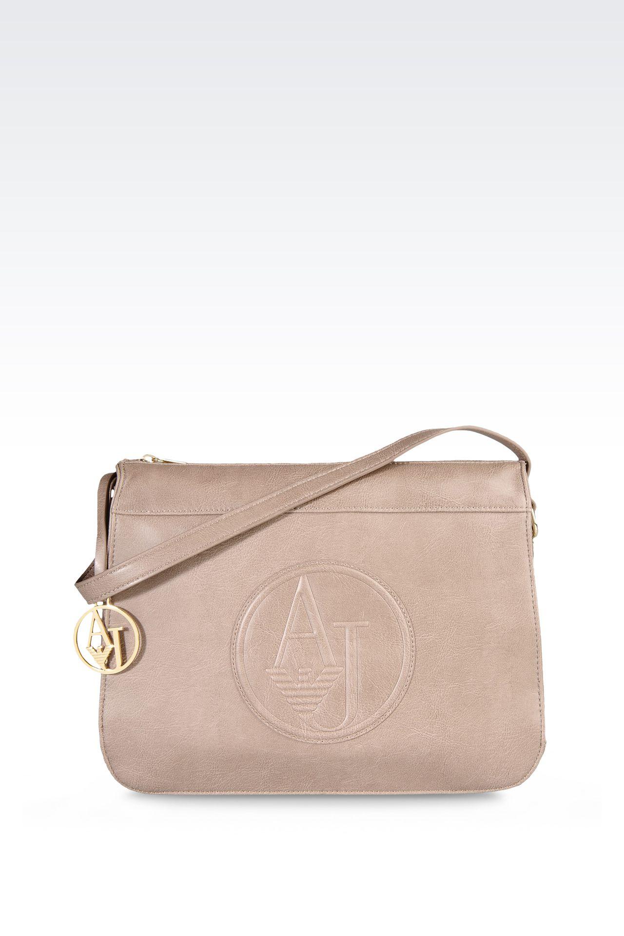 VINTAGE STYLE ECO LEATHER SHOULDER BAG: Shoulder bags Women by Armani - 0