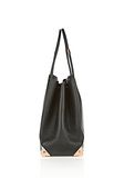 ALEXANDER WANG PRISMA LARGE TOTE IN PEBBLED BLACK WITH ROSE GOLD TOTE Adult 8_n_a