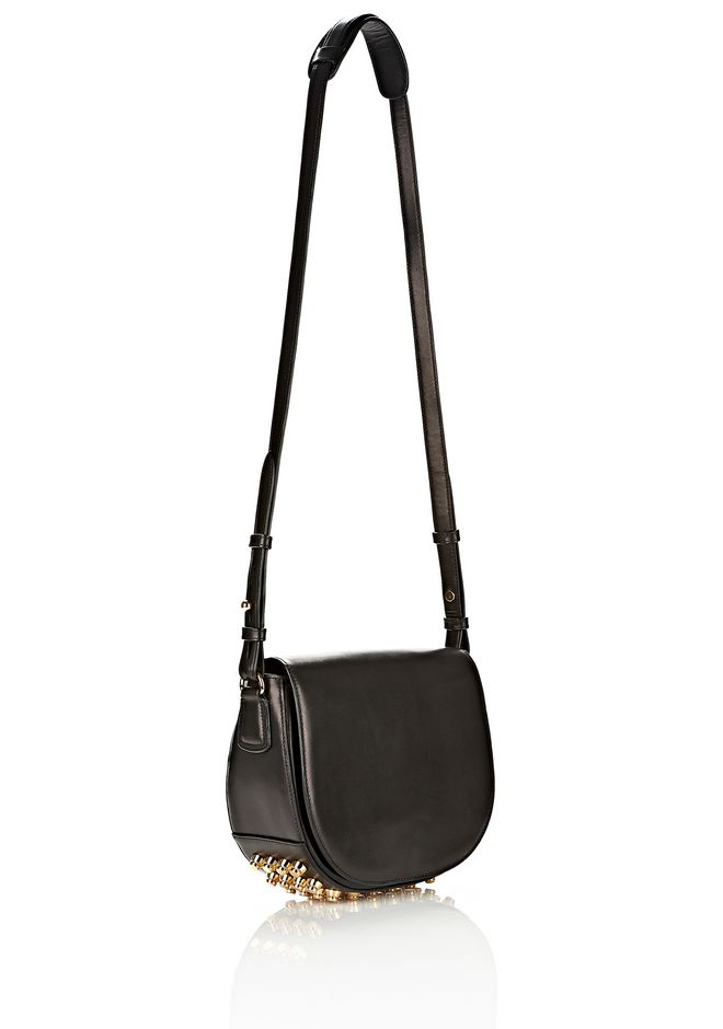 ALEXANDER WANG LIA IN BLACK WITH YELLOW GOLD Shoulder bag Adult 12_n_d