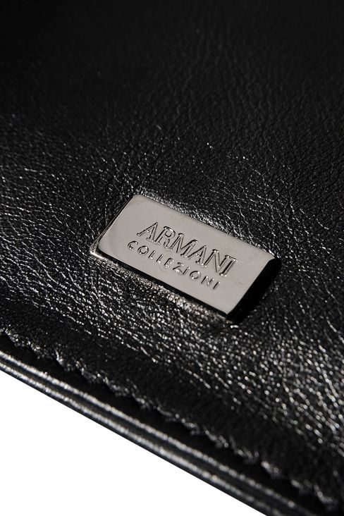 CALFSKIN CLUTCH WITH RHINESTONE EMBELLISHMENT: Clutches Women by Armani - 4