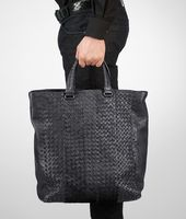 Tote Bag aus Intrecciato Fumé Ardoise