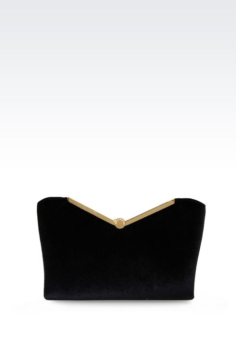 VELVET CLUTCH: Messenger bags Women by Armani - 1