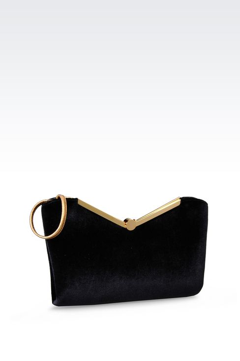 VELVET CLUTCH: Messenger bags Women by Armani - 2