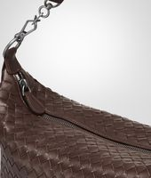Tasche aus Nappaleder Intrecciato Ebano