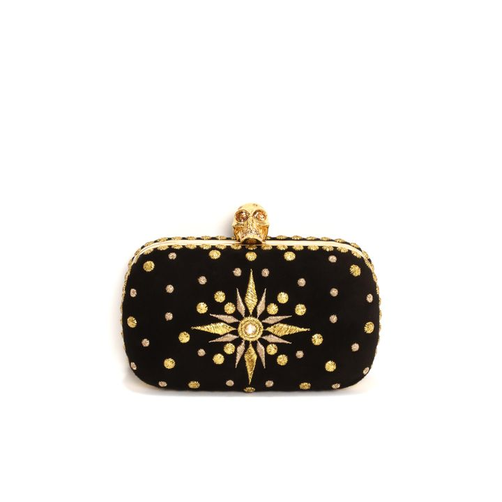 Alexander McQueen, Glory Embroidery Skull Box Clutch