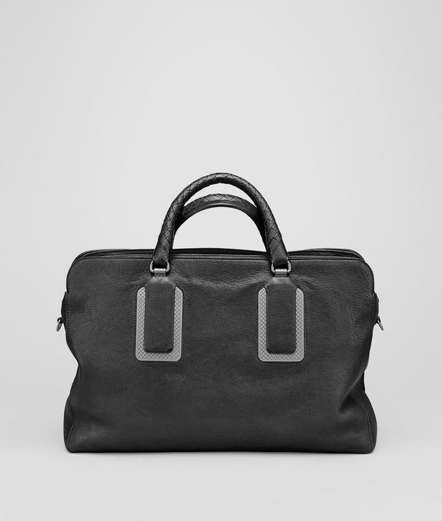 Nero Buffalo Leather Metal Briefcase