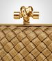 BOTTEGA VENETA KNOT CLUTCH IN ORO BRUCIATO INTRECCIO Clutch D ep