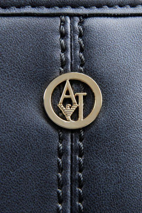 ECO LEATHER SHOPPING BAG WITH LOGO: Shoulder bags Women by Armani - 4