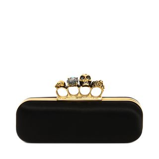 ALEXANDER MCQUEEN, Pouch, Satin Knuckle Box Clutch