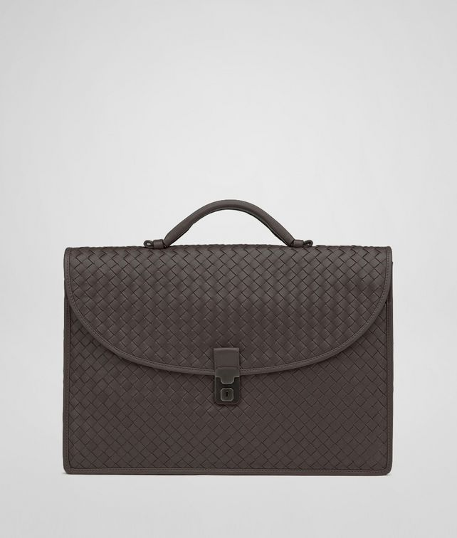 BOTTEGA VENETA Moro Intrecciato Light Calf Briefcase Business bag U fp