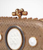 Knot aus Porzellan, Ayers, Verre Irisé und Zirkonia Bronze Brique Brown