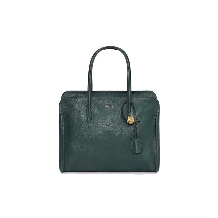 Alexander McQueen, Grainy Leather Skull Padlock Top Handle Bag