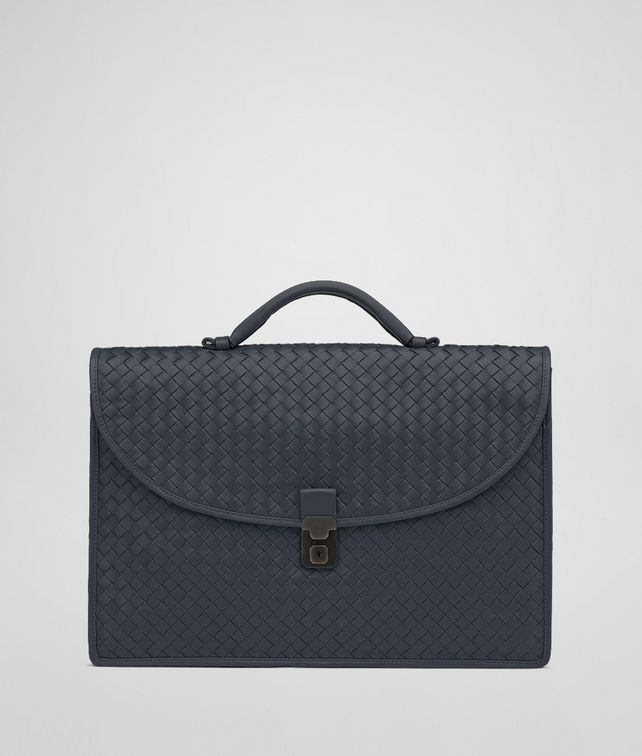 Tourmaline Intrecciato Light Calf Briefcase
