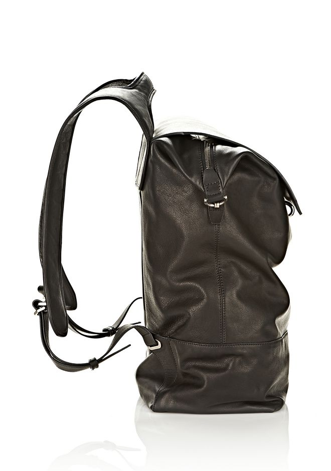 ALEXANDER WANG EXPLORER BACKPACK IN WAXY BLACK WITH MATTE BLACK BACKPACK Adult 12_n_e