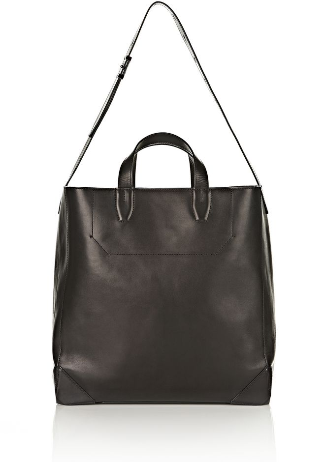 ALEXANDER WANG Travel Men WALLIE CARRYALL SHINY BLACK WITH RHODIUM