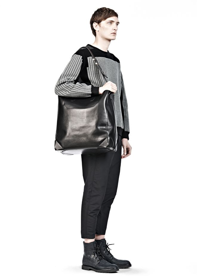 ALEXANDER WANG WALLIE CARRYALL SHINY BLACK WITH RHODIUM Travel Adult 12_n_r