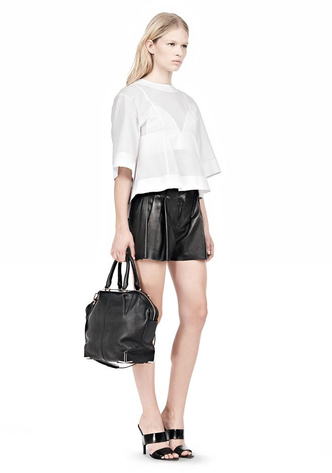 ALEXANDER WANG SMALL EMILE IN SOFT BLACK WITH ROSE GOLD TOTE Adult 12_n_r