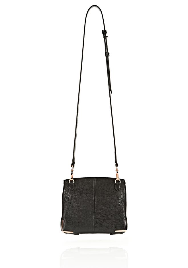 ALEXANDER WANG MARION IN SOFT BLACK WITH ROSEGOLD Shoulder bag Adult 12_n_d