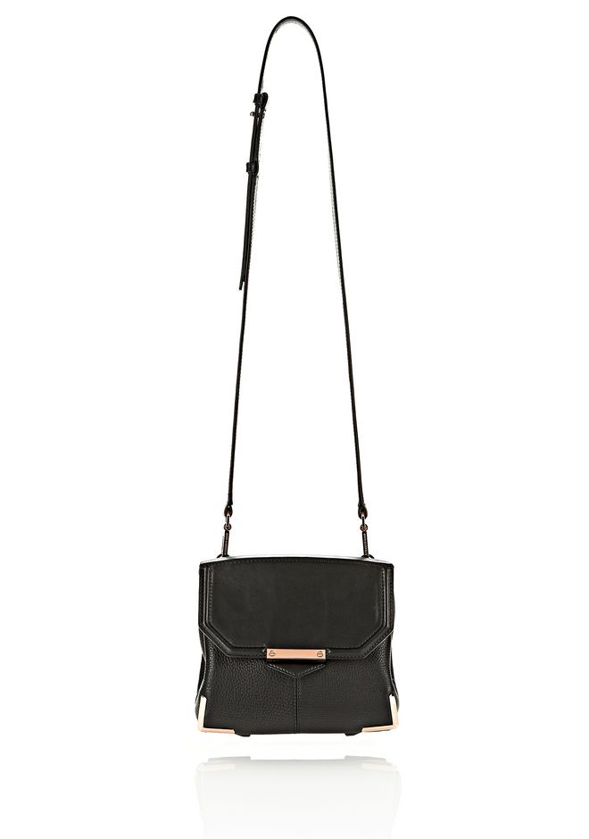 ALEXANDER WANG MARION IN SOFT BLACK WITH ROSEGOLD Shoulder bag Adult 12_n_f