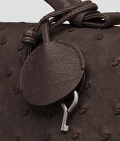 Cioccolato Antique Ostrich Briefcase