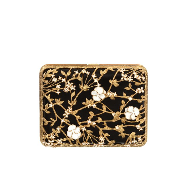 Alexander McQueen, Floral Evening Book Clutch