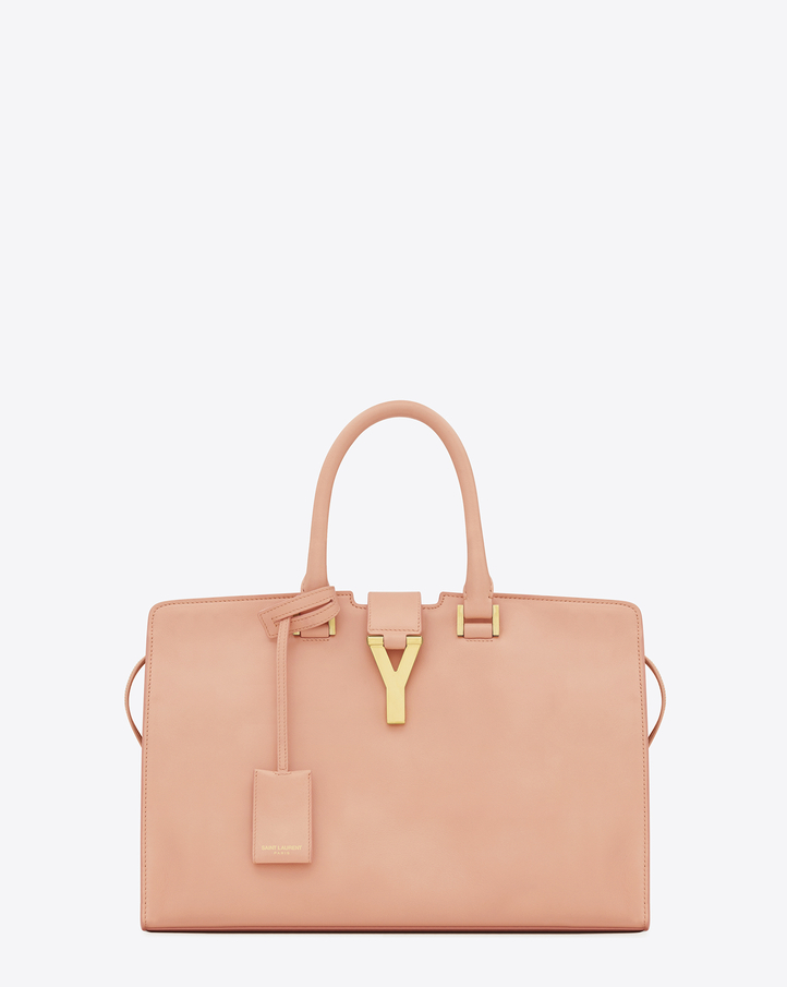 Saint Laurent Classic Cabas Y Bag In Blush Leather | YSL.com