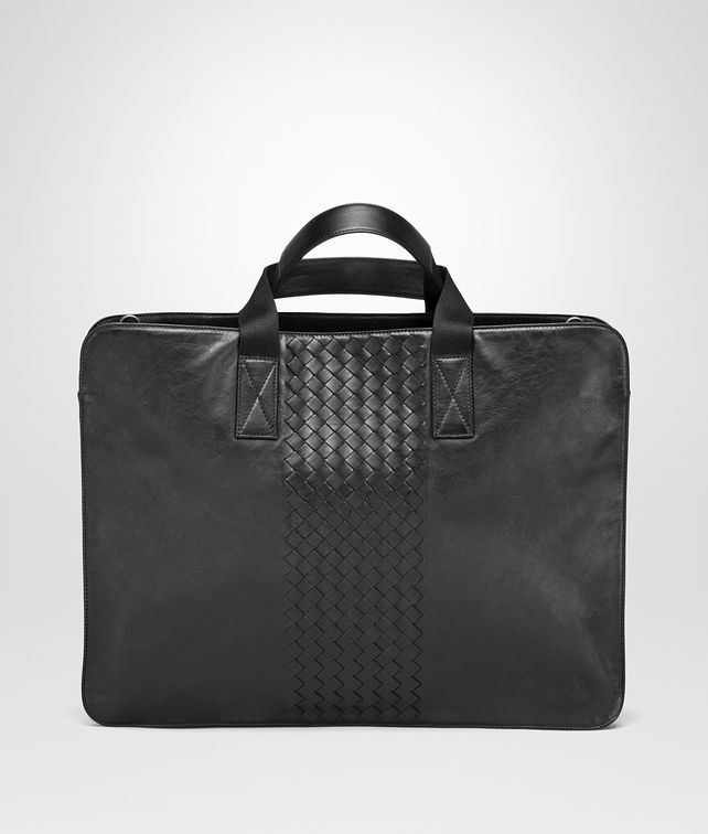 Nero Light Calf Intrecciato Briefcase