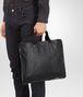 BOTTEGA VENETA AKTENTASCHE AUS KALBSLEDER IN NERO MIT INTRECCIATO-DETAILS Business Tasche U ap