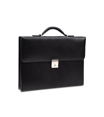 ERMENEGILDO ZEGNA: Office and laptop bag Maroon - Steel grey - 45218234UG