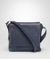 Prusse Intrecciato Light Calf Cross Body Messenger