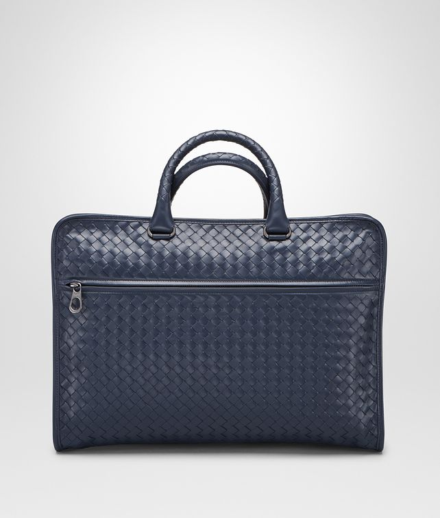 BOTTEGA VENETA BRIEFCASE IN PRUSSE INTRECCIATO CALF Business bag U fp