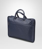 Prusse Intrecciato Light Calf Briefcase