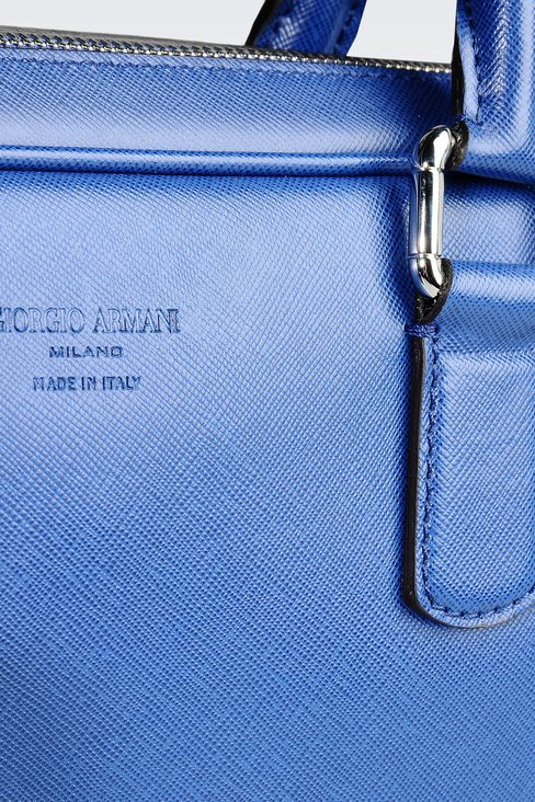 BRIEFCASE IN SAFFIANO CALFSKIN: Briefcases Men by Armani - 4