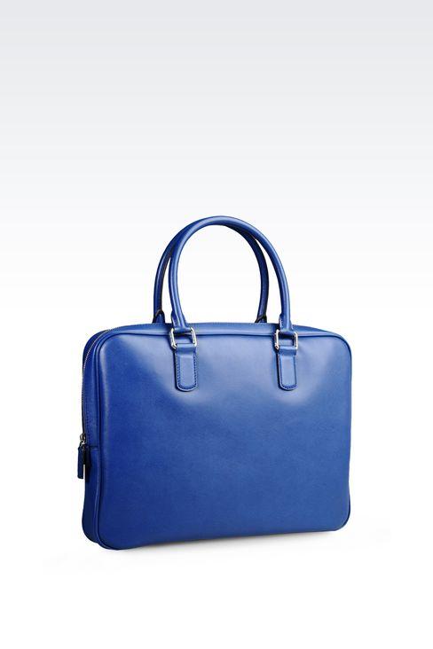 BRIEFCASE IN SAFFIANO CALFSKIN: Briefcases Men by Armani - 2