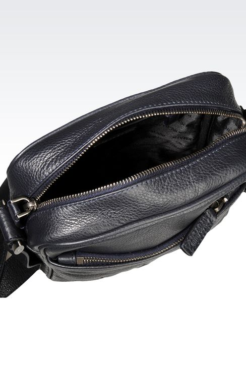 SMALL SHOULDER BAG WITH LOGO: Messenger bags Men by Armani - 3