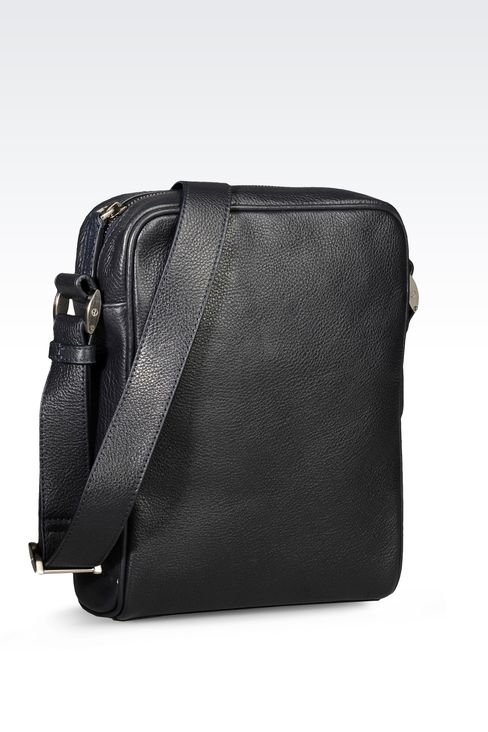 SMALL SHOULDER BAG WITH LOGO: Messenger bags Men by Armani - 2