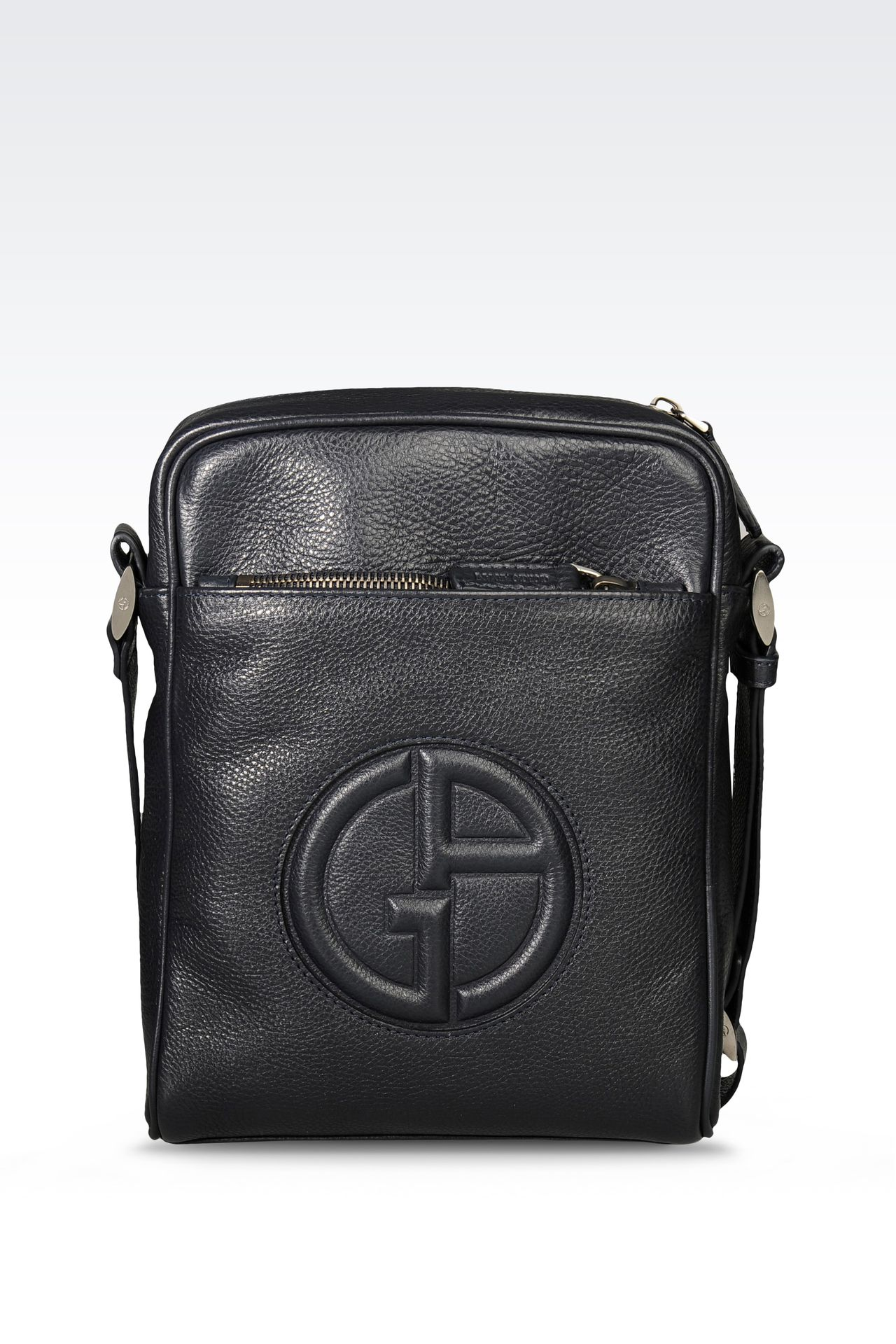 SMALL SHOULDER BAG WITH LOGO: Messenger bags Men by Armani - 0