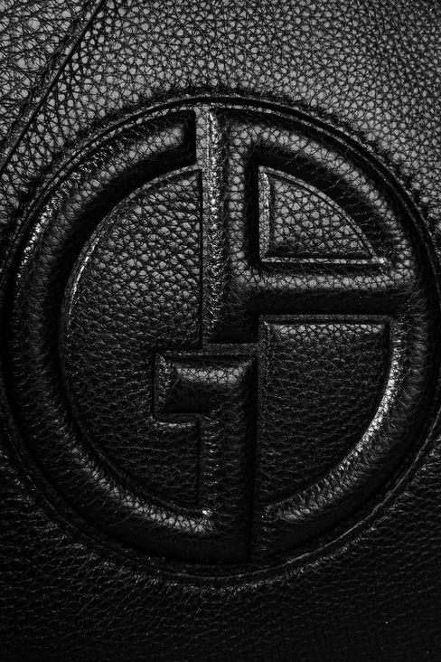 FLAT SHOULDER BAG IN CALFSKIN WITH LOGO: Messenger bags Men by Armani - 4