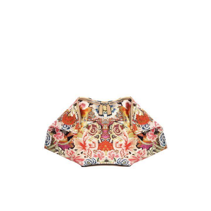 Alexander McQueen, Pochette De Manta Stampa Patchwork Floral