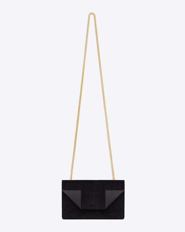 Saint Laurent Classic Small Betty Bag In Black Suede And Leather ...