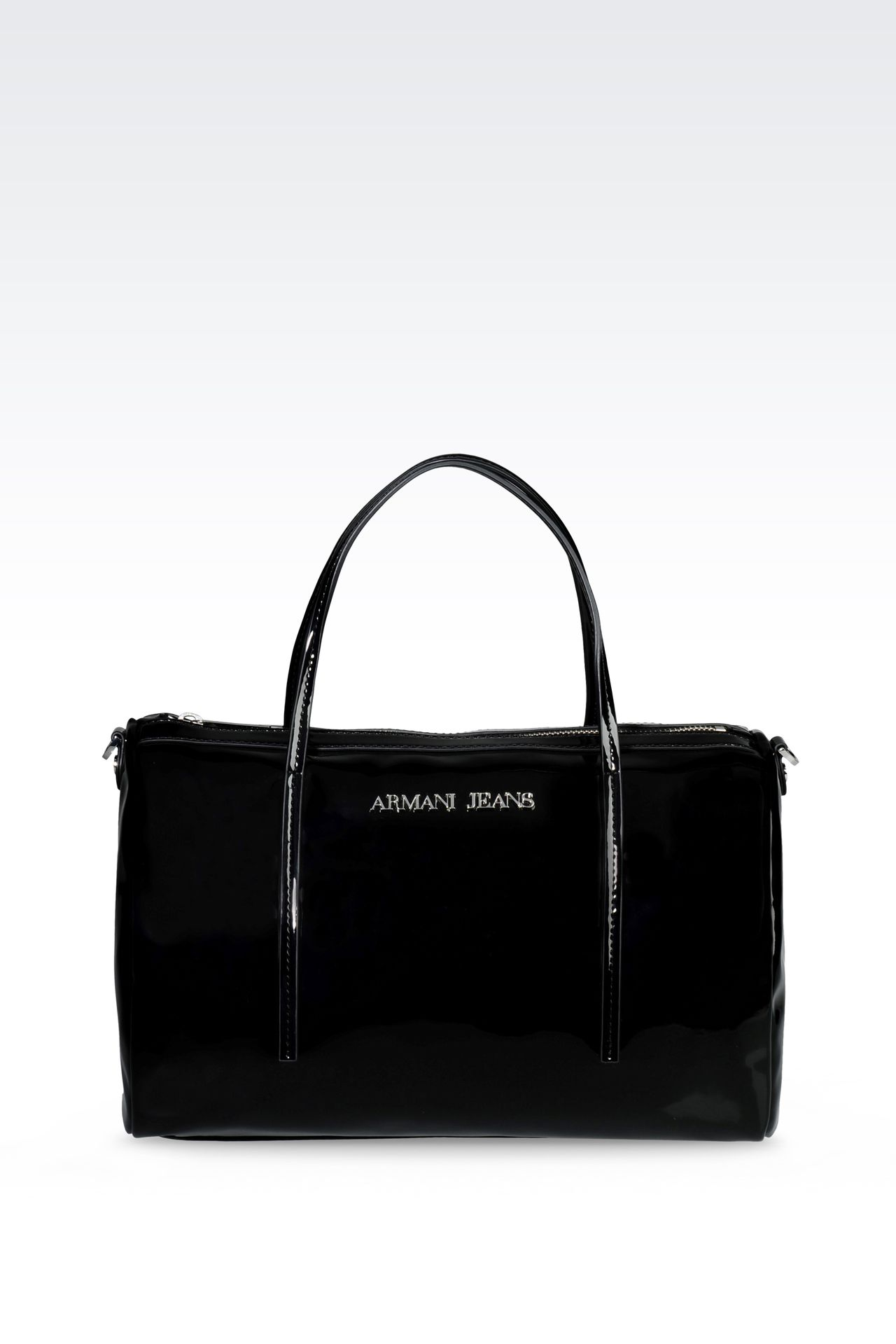 BAULETTO BAG IN PATENT-EFFECT FAUX LEATHER: Baulettos Women by Armani - 0
