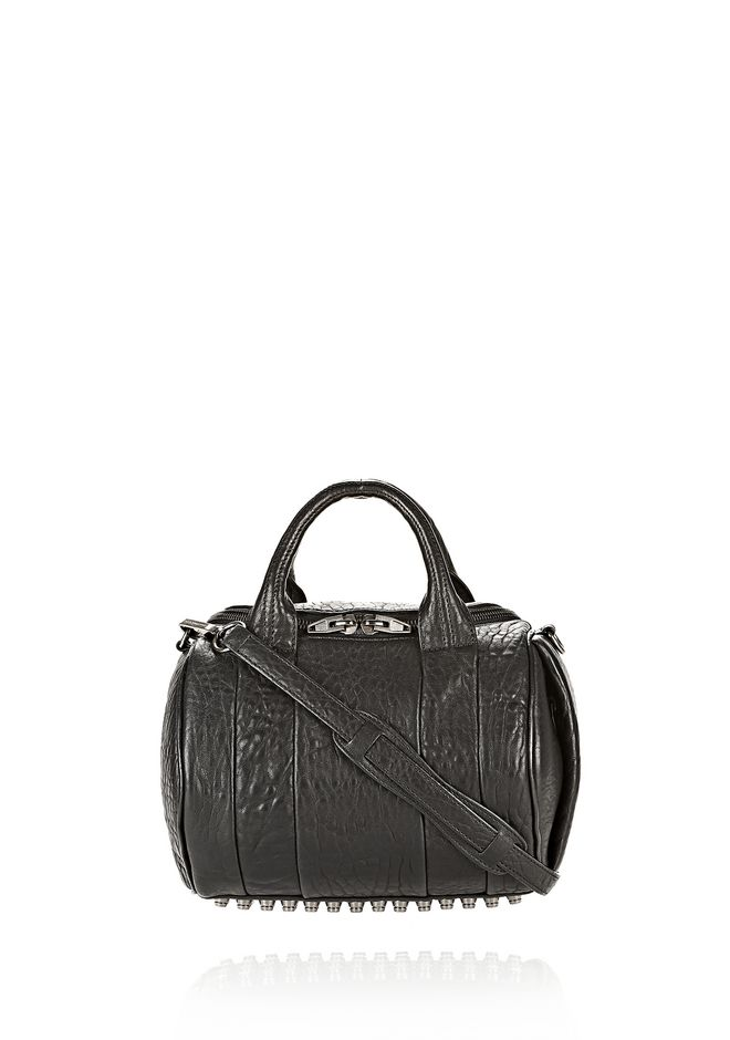 ALEXANDER WANG Shoulder bags Women ROCKIE IN PEBBLED BLACK WITH BLACK NICKEL