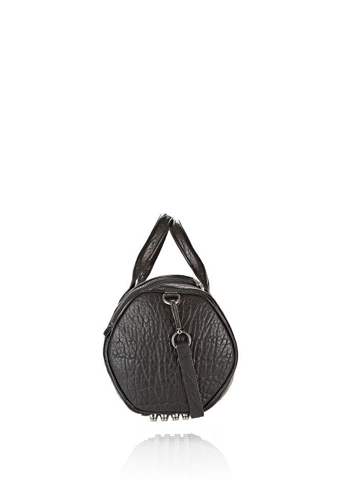 ALEXANDER WANG ROCKIE IN PEBBLED BLACK WITH BLACK NICKEL Shoulder bag Adult 12_n_e