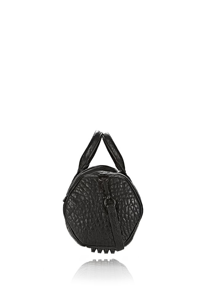 ALEXANDER WANG ROCKIE IN PEBBLED BLACK WITH MATTE BLACK Shoulder bag Adult 12_n_d