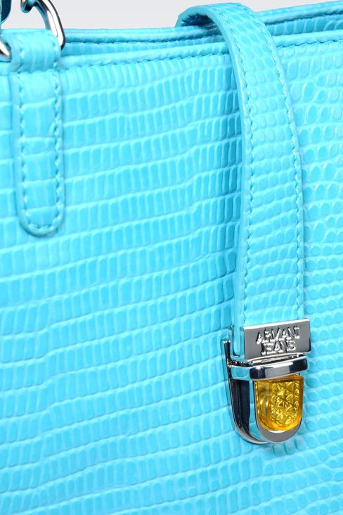 SHOPPING BAG IN PRINTED FAUX LEATHER WITH JEWEL DETAIL: Shoppers Women by Armani - 4