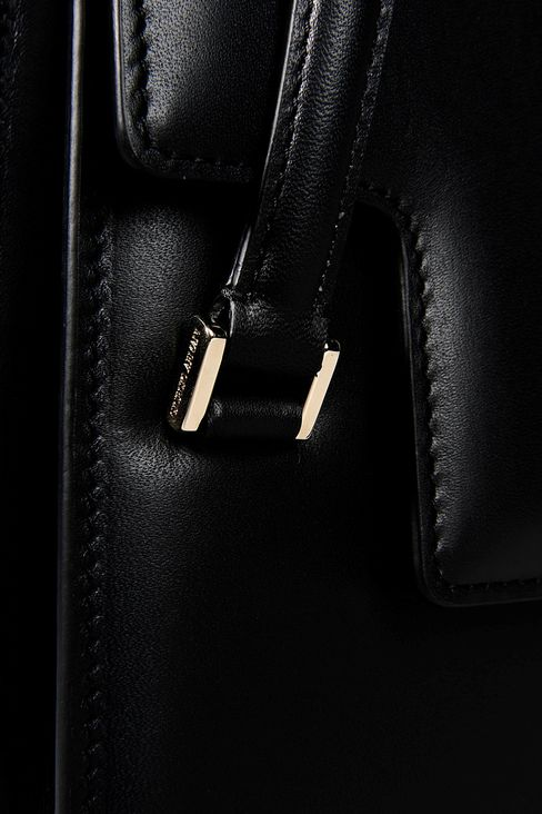 LEATHER SHOULDER BAG WITH LATCH CLOSURE: Shoulder bags Women by Armani - 4