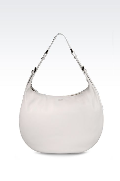 LARGE LAMBSKIN HOBO BAG: Hobo bags Women by Armani - 1