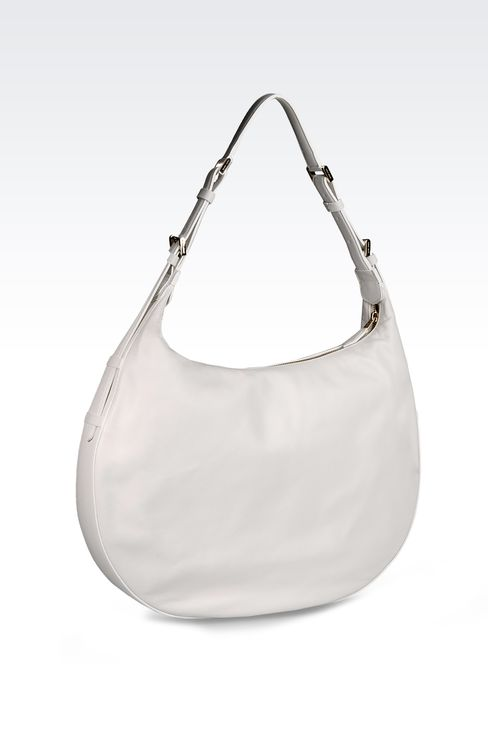 LARGE LAMBSKIN HOBO BAG: Hobo bags Women by Armani - 2